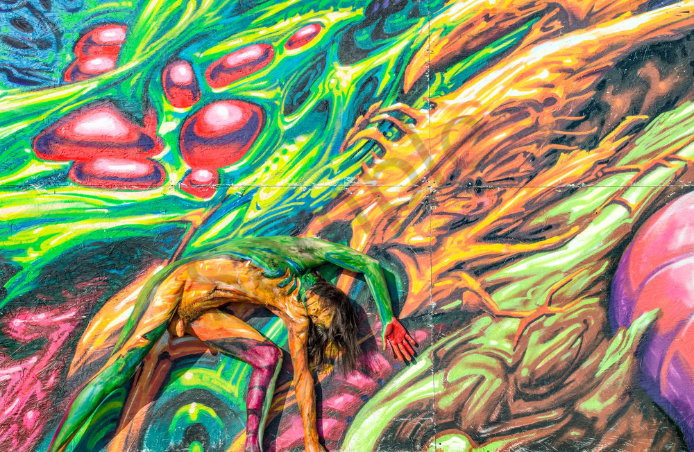 2016 Fractal.Beach.Mural Florida Art | BODYPAINTOGRAPHY