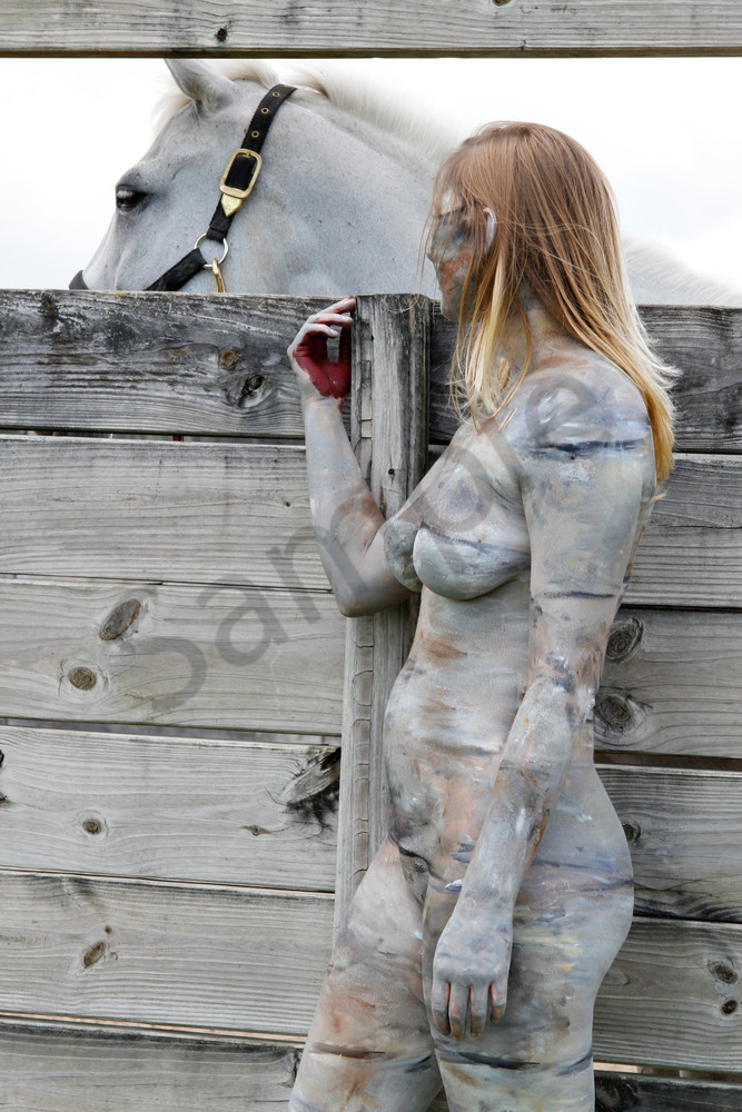 2013 Horse&Fence Florida Art | BODYPAINTOGRAPHY