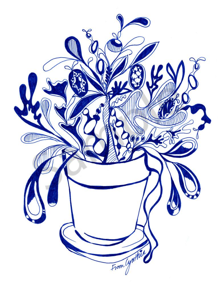 Plant illustration by artist Cynthia Mosser