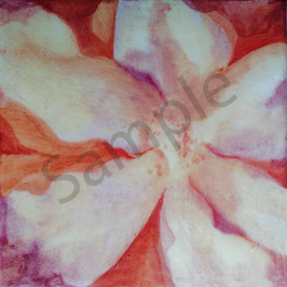 Floral In Orange And Purple Art | Dena McKitrick