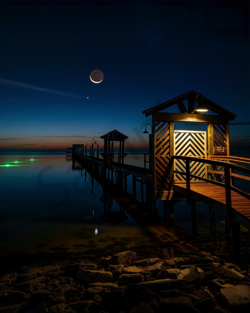 Late Moonrise Photography Art | John Martell Photography