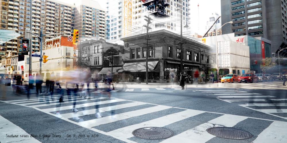 Past Present - Stollery's at Bloor & Yonge SW corner