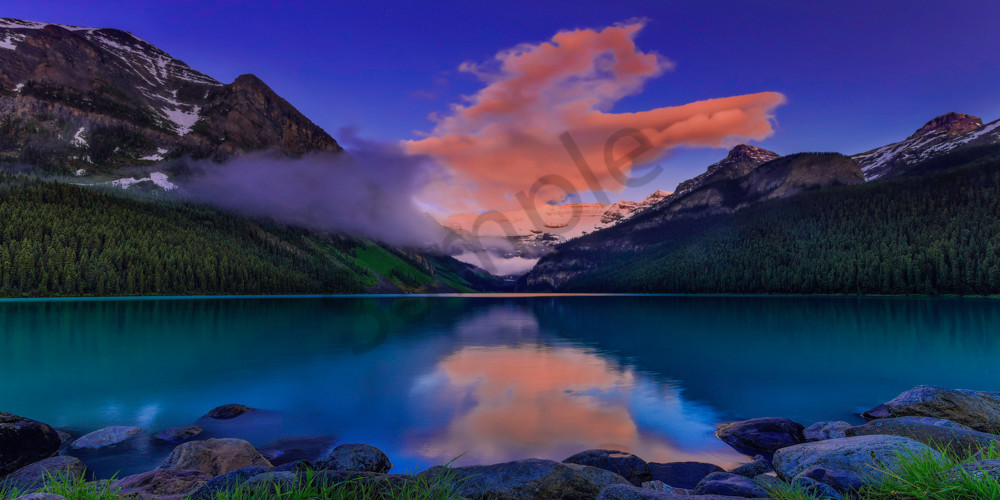 Lake Louise in June in the Canadian Rockies. Banff National Park|Rocky Mountains|