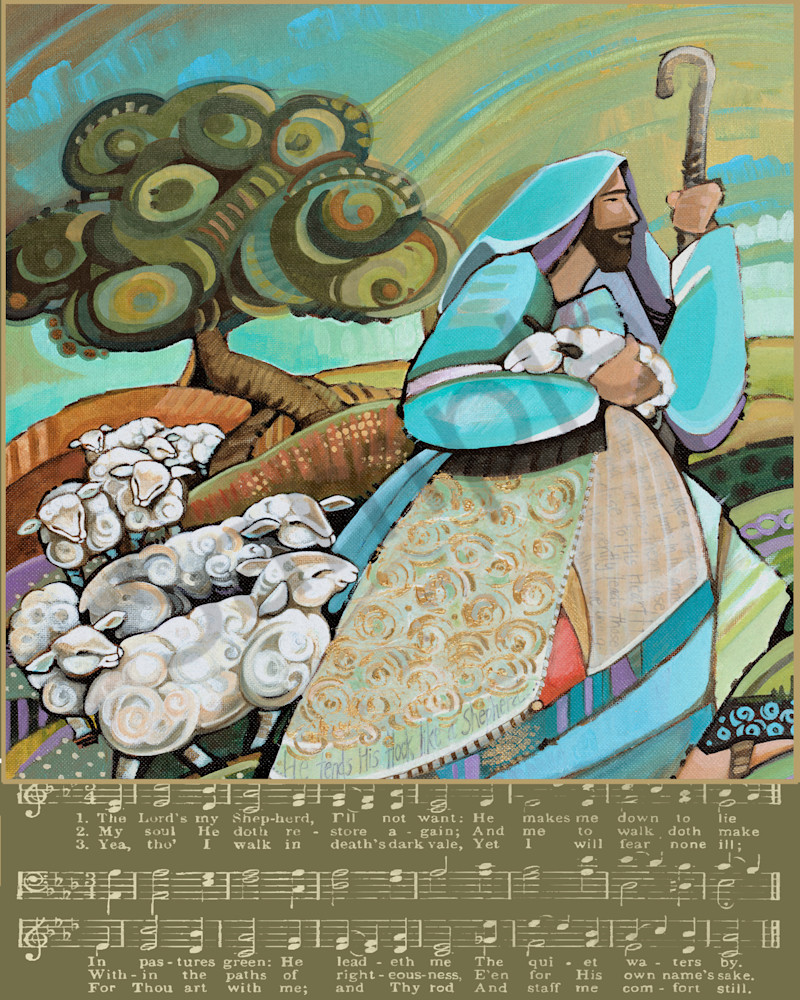 The Shepherd with Gold Band by Georgia Artist Lynne Davis | Prophetics Gallery