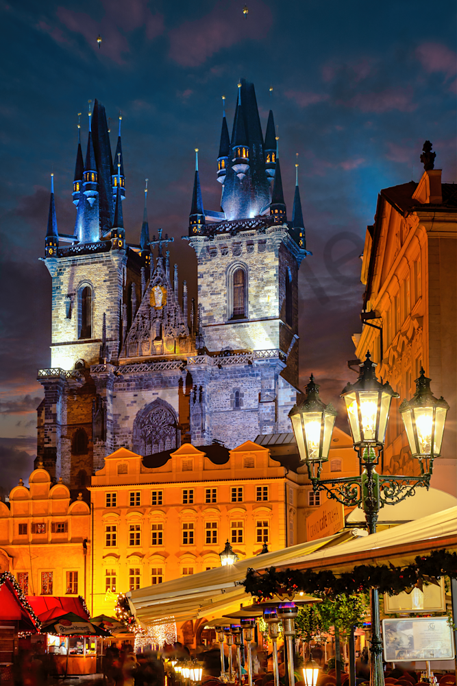 Print Art Prague Czech Republic Old Town Square