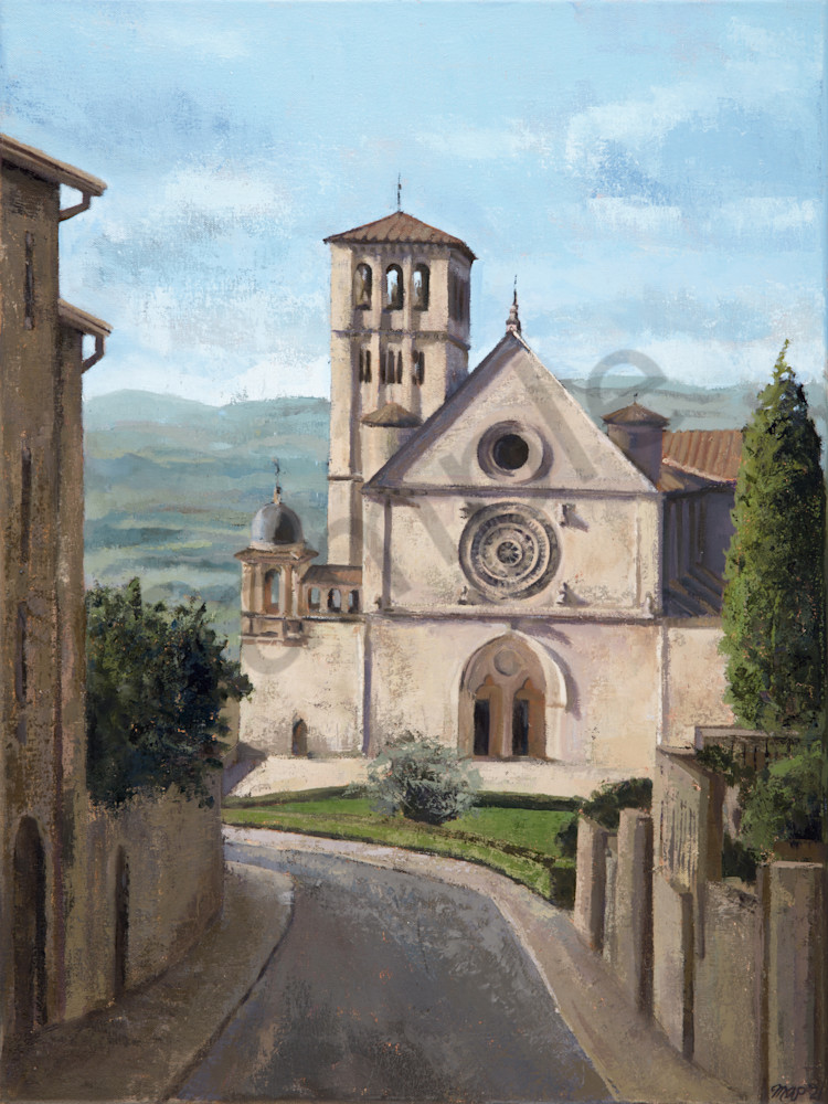 Basilica Of Saint Francis Of Assisi Print Art   Michelle Arnold Paine Fine Art
