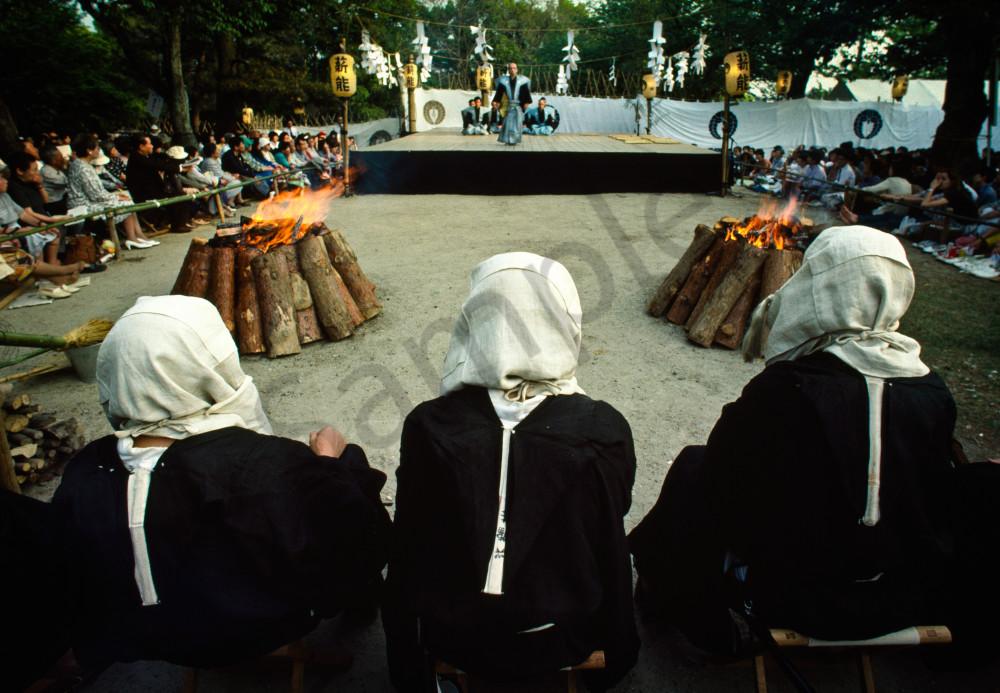 Takigi O-Noh traditional Japanese musical drama a the Kofukuji Temple, Nara, Japan.