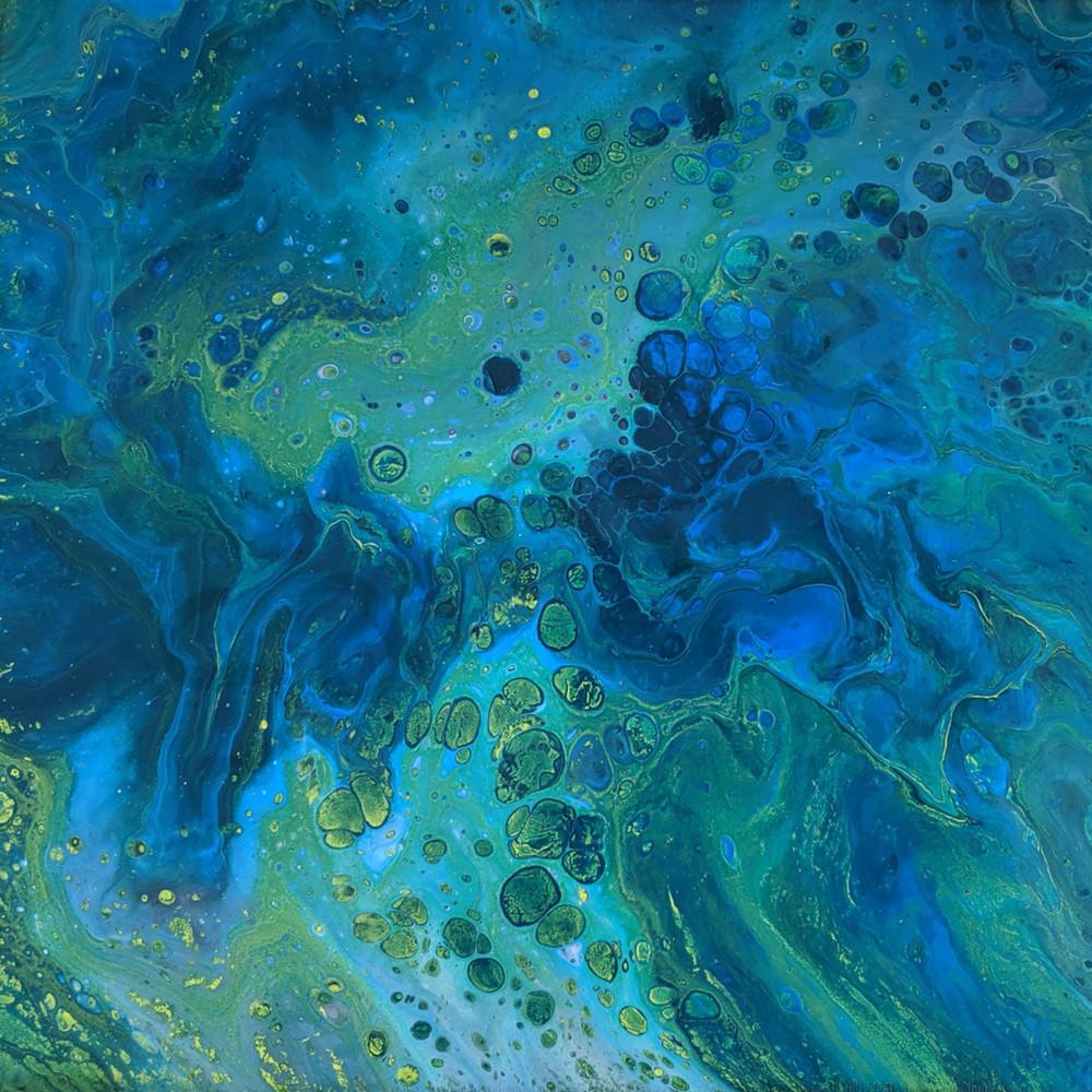 Daydream Blues Fluid Art Acrylic Pour Print