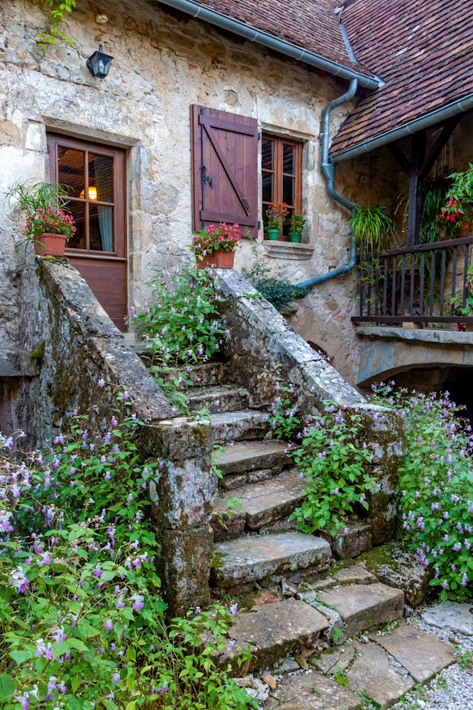 Print Art Autoire France Stone House
