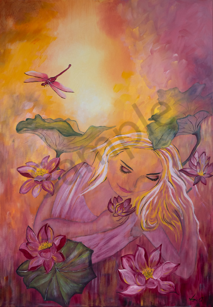 """Woman In The Garden"" by German Artist Angela Günther | Prophetics Gallery"