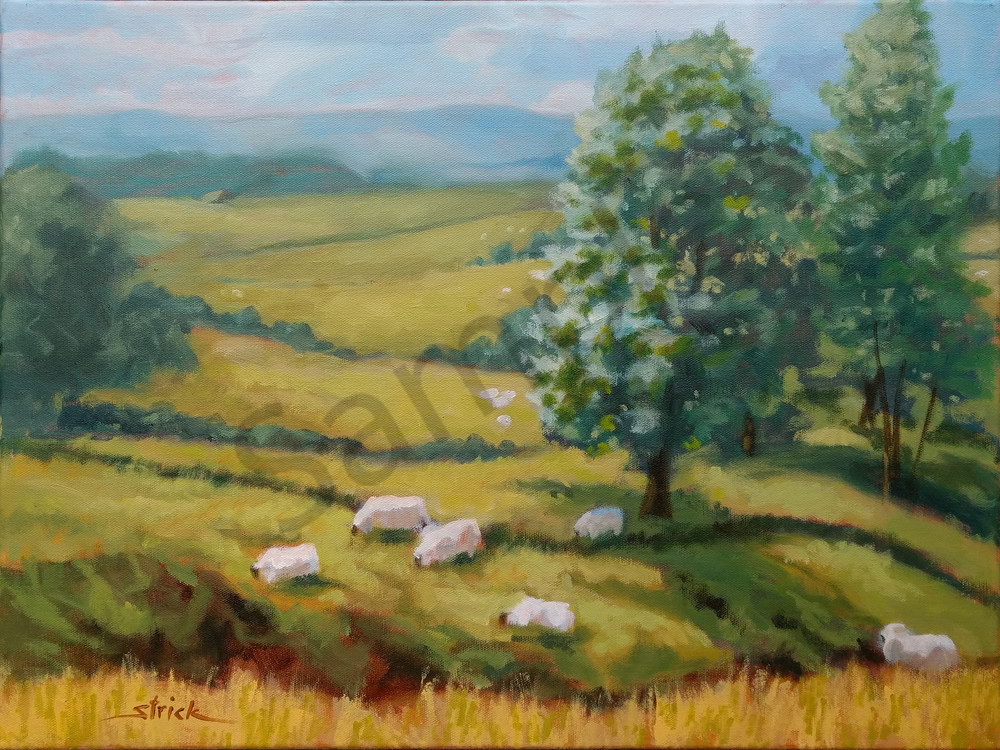 Sheep May Safely Graze Art   Strickly Art