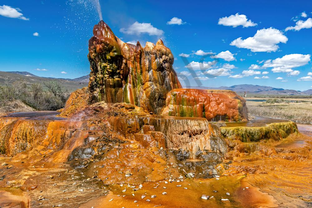 Print Art Gerlach Nevada Geothermal Geyser