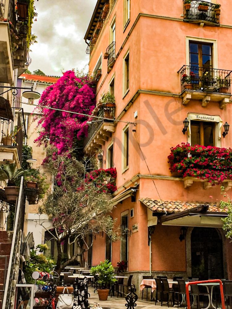 'trattoria; Taormina, Sicily' Art   Cera Arts