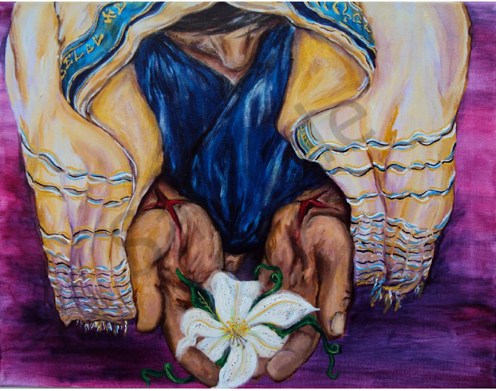 """""""Lily In His Hands"""" by Missouri Prophetic Artist Megan Kasper   Prophetics Gallery"""