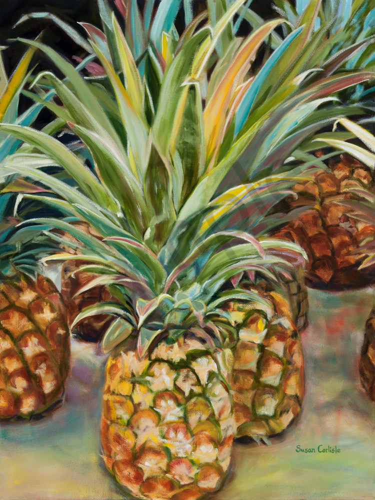 Pineapples At The Market | Sc010 Art | Pictures Plus