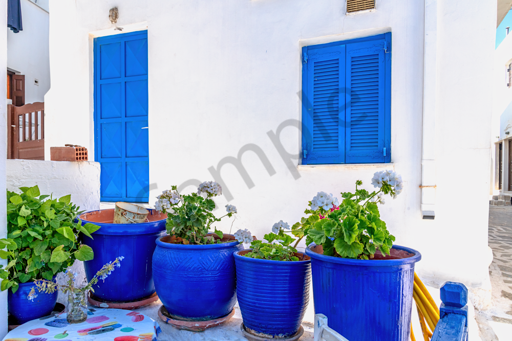 Art Print Naxos Greece Shades of Blue
