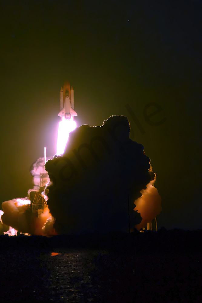 The Last Night Time Space Shuttle Launch  Photography Art | RAndrews Photos