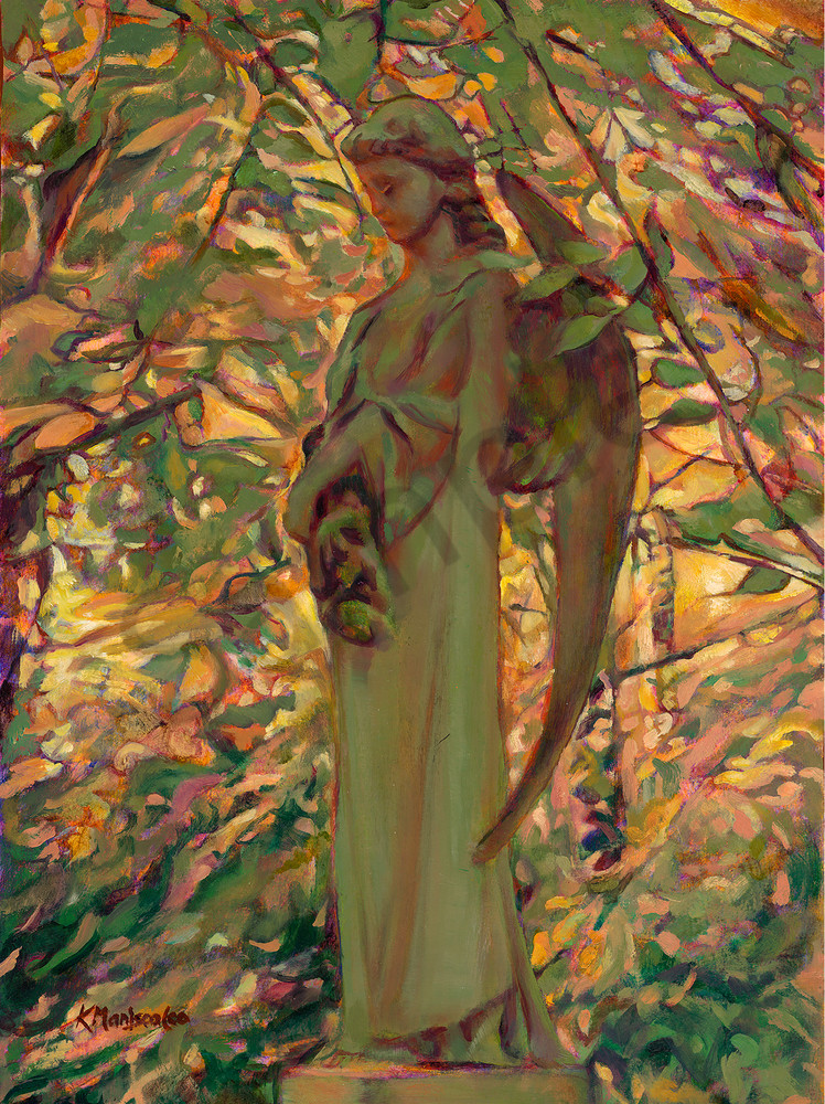 Highgate Angel oil painting by K. Maniscalco
