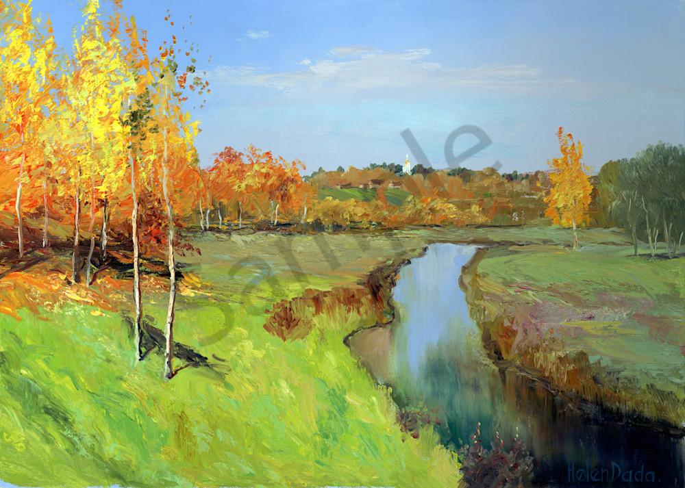 """Autumn Gold"" by Russian Prophetic Artist Elena Shipunova | Prophetics Gallery"
