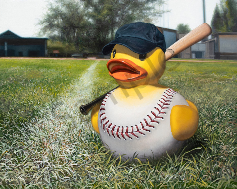 """""""Fowl Ball"""" print by Kevin Grass"""