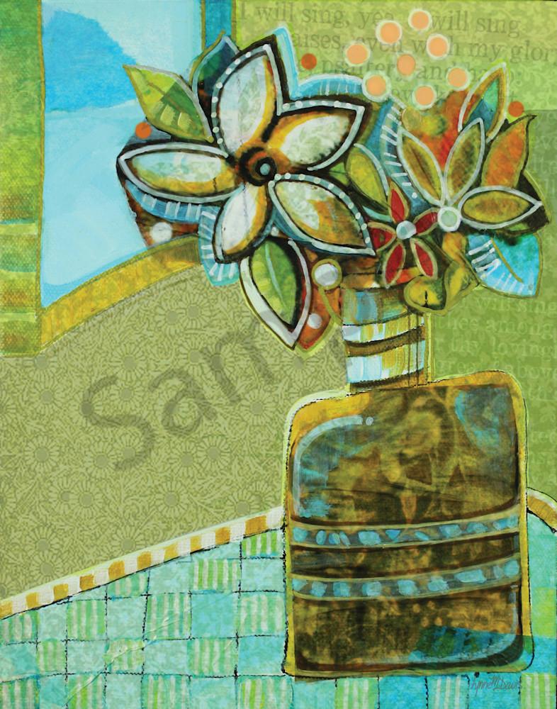 """Polka Dot Daisy Praise II"" by Georgia Artist Lynne Davis | Prophetics Gallery"