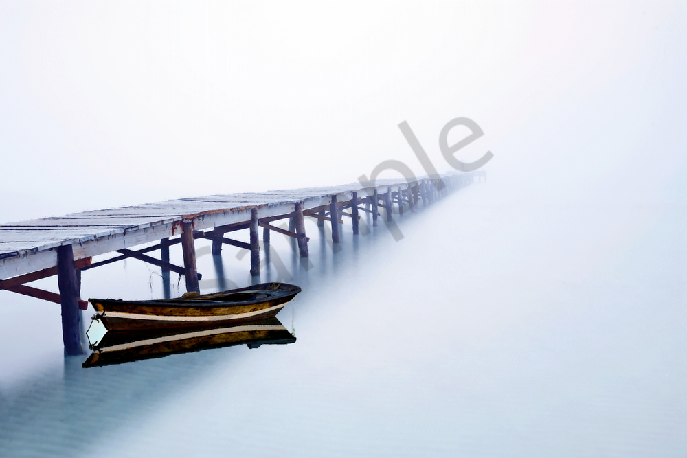 Tranquility And Morning Fog Photography Art   Images by Louis Cantillo