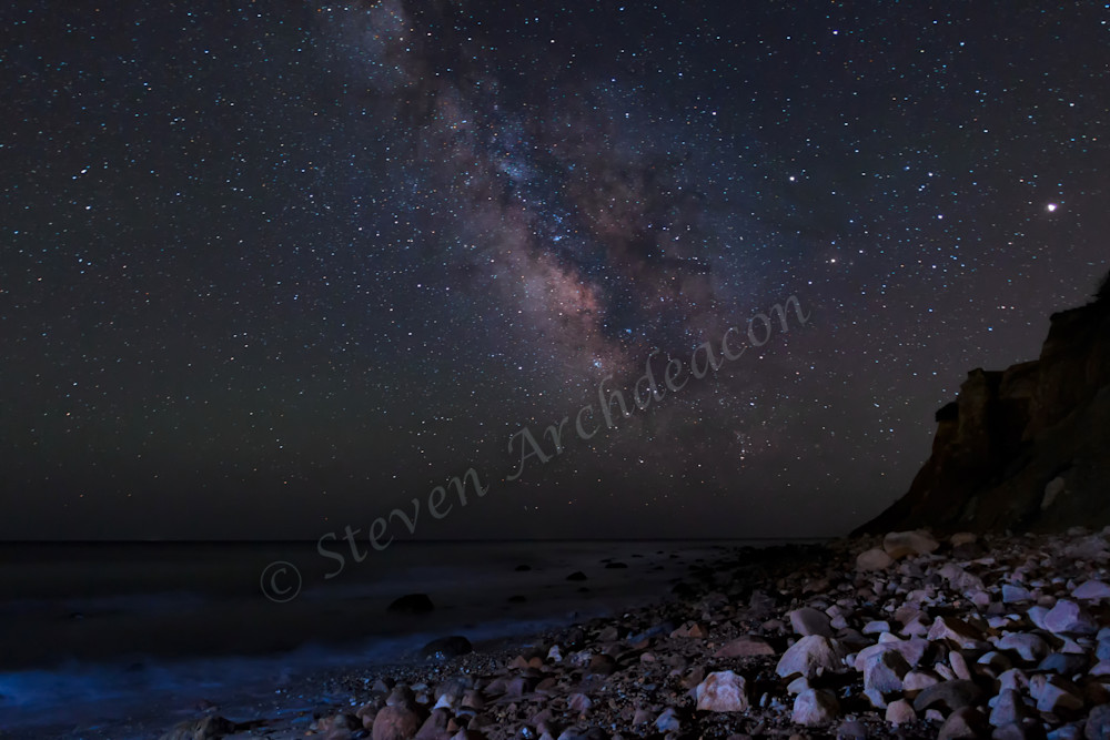 Milky Way on Beach in Montauk, NY by Steven Archdeacon.