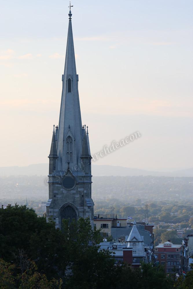 Quebec City Canada church by Steven Archdeacon.