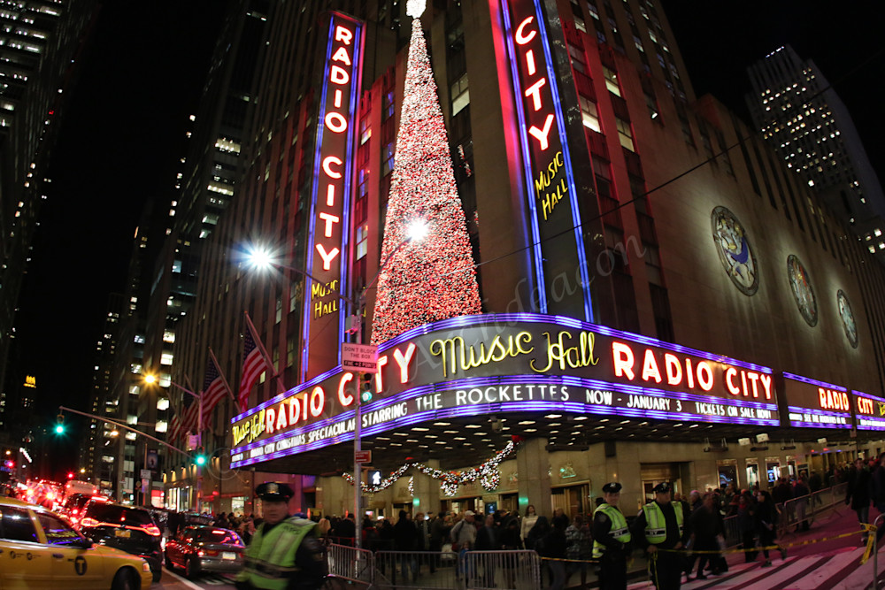 Radio City Music Hall Photograph by Steven Archdeacon.
