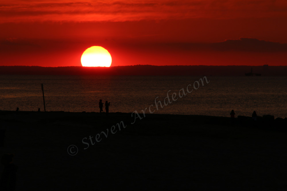 Sunset at Sunken Meadow Park, NY by Steven Archdeacon.