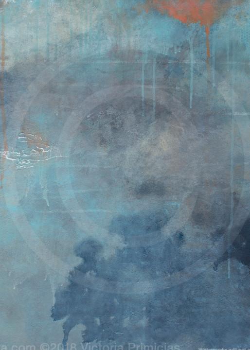 Toward Within - Abstract Art - Blue Wall Art