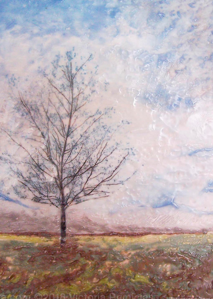 Praying Maple - Tree Artwork - Simple Paintings