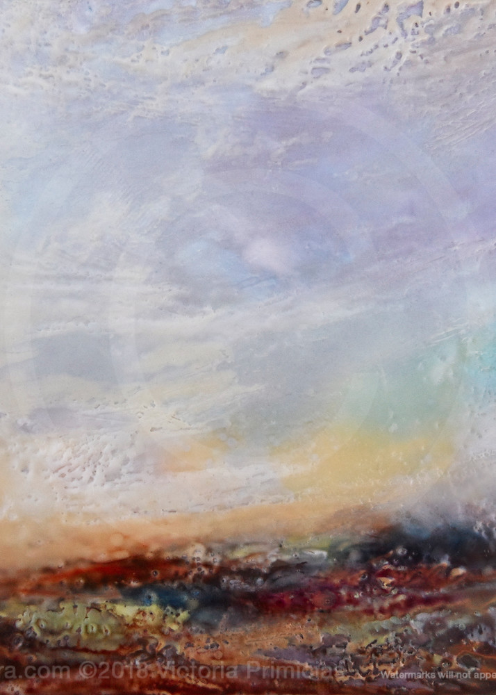 Lilac Heavens - Purple Wall Art - Abstract Landscape Paintings