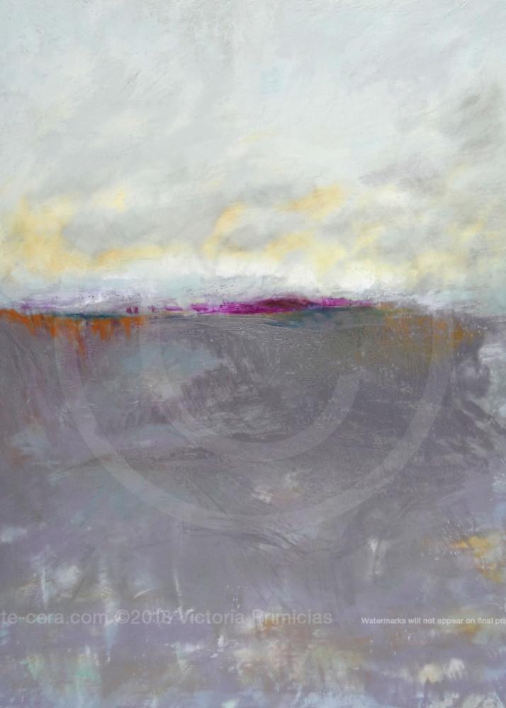 Fog Island - Purple Wall Art - Ocean Paintings