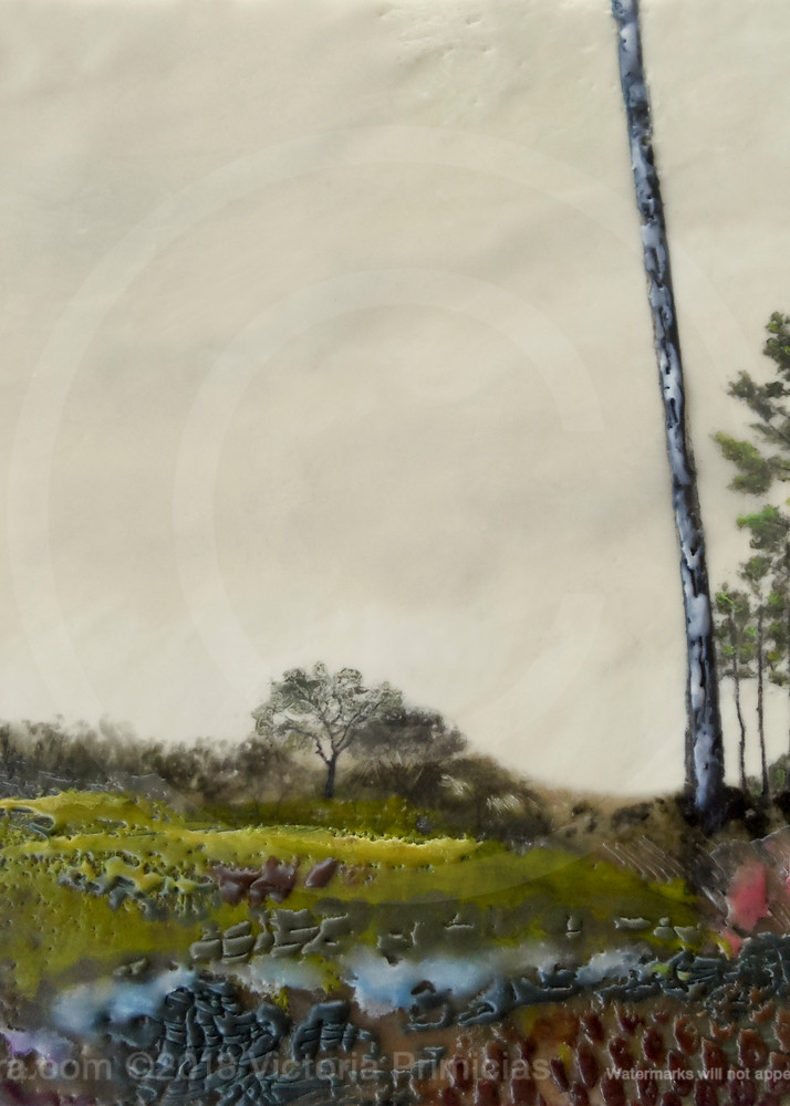 Descent from Biltmore - Tree Painting - Art Prints for Home Décor