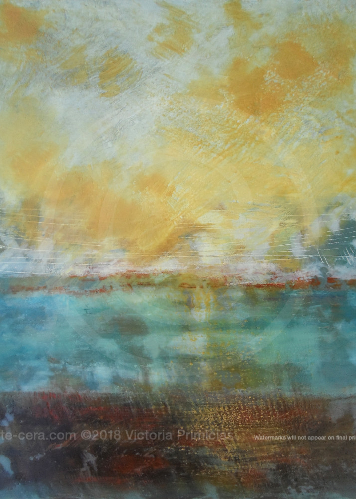 Guardian Light - Yellow Wall Art - Ocean Paintings