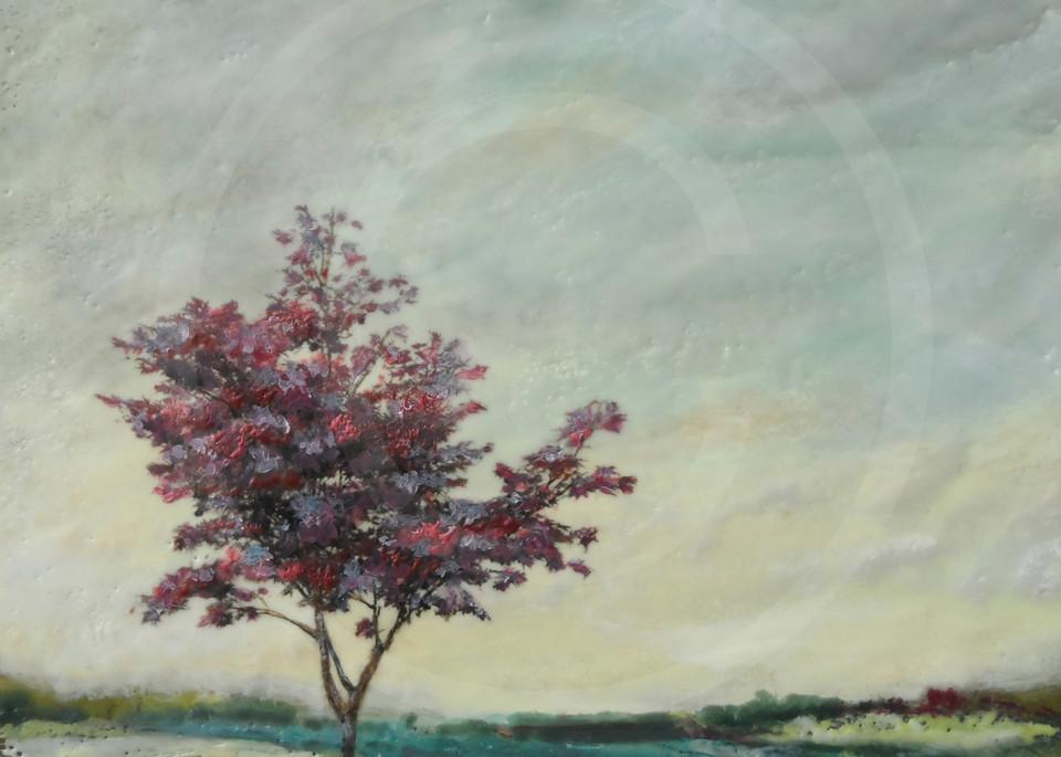 Crimson Consort - Tree Artwork - Wall Art on Canvas