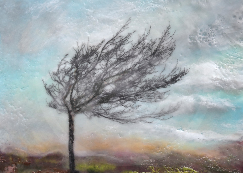 Mistral's Fury - Tree Painting - Wall Art on Canvas