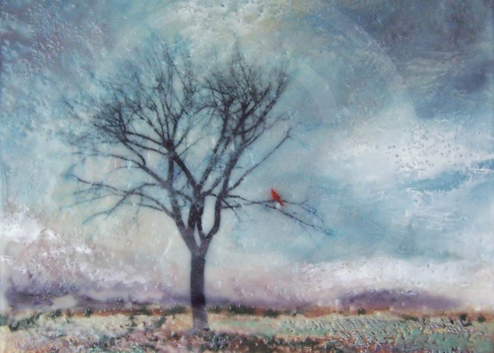 Cardinal's Perch - Tree Painting - Wall Art on Canvas