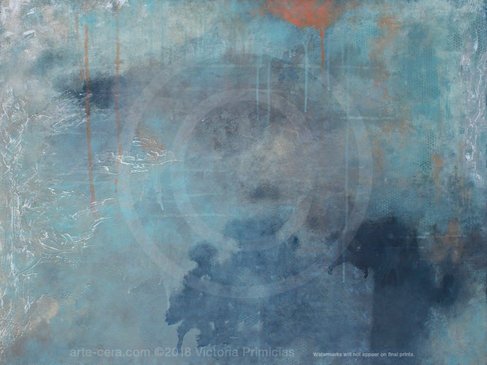 Toward Within - Abstract Art - Blue Wall Art