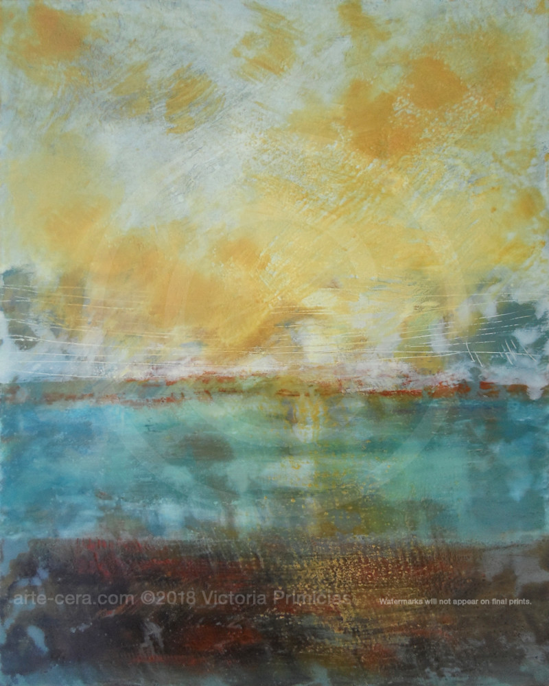 Light - Yellow Wall Art - Ocean Paintings