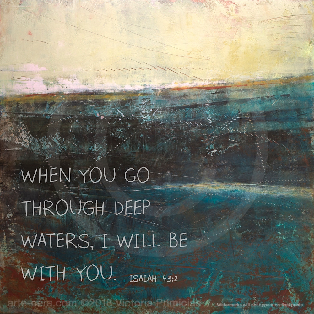 Deep End - Bible Verses on Wall Art - Isaiah 13:2