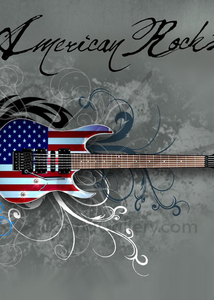 Grey American Rockstar Guitar Square