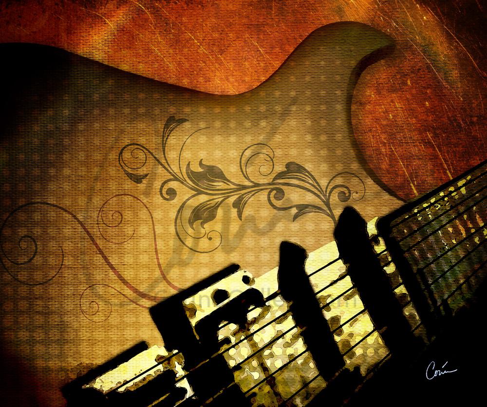 Gold Grunge Guitar