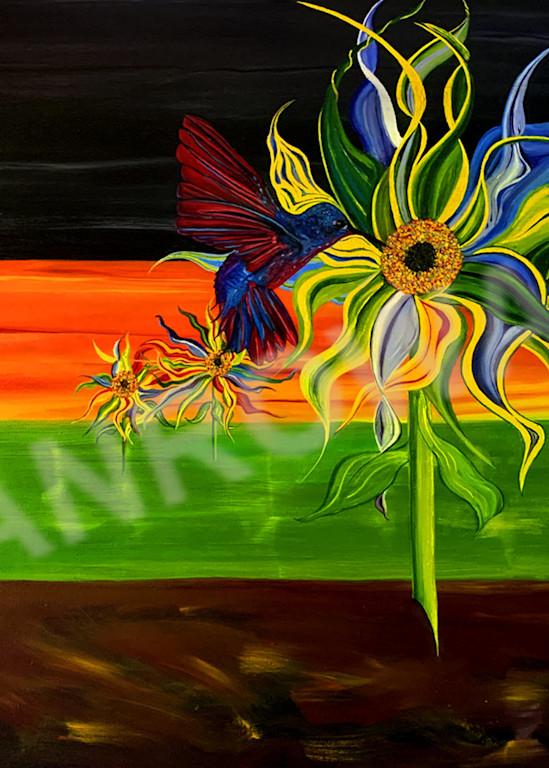 Hummingbird Garden Art | Brandon Manrow Fine Art