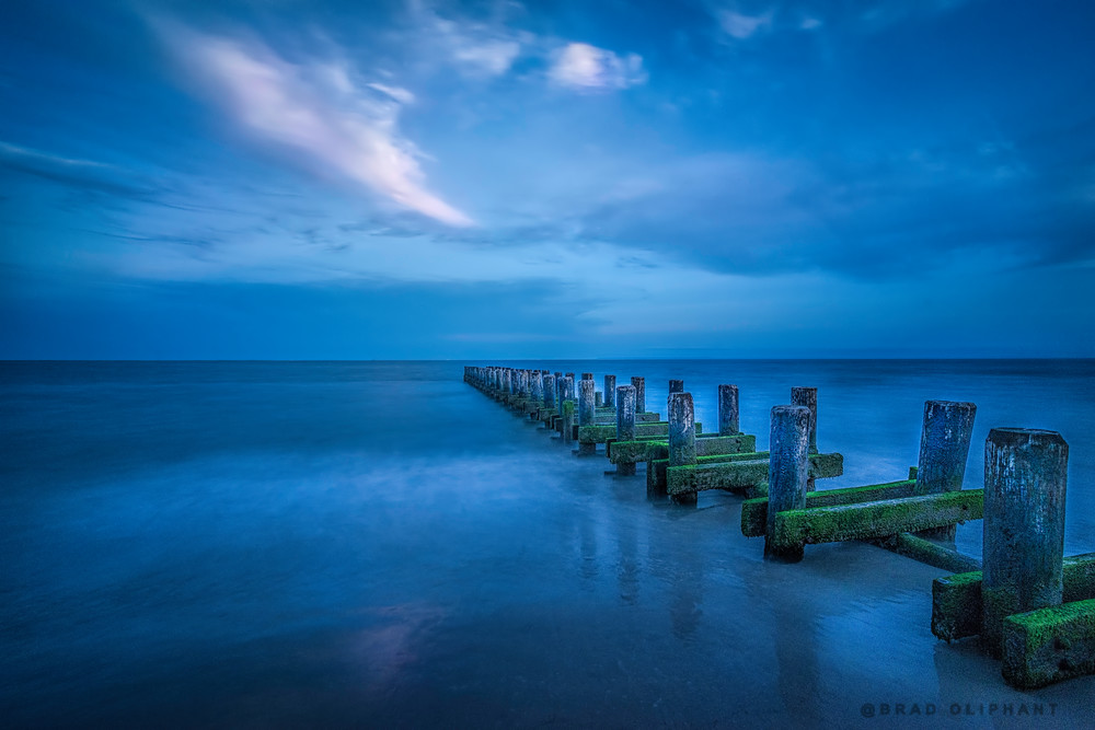 pier photography of Coney Island, art photographs of piers, ocean and pier photograph,