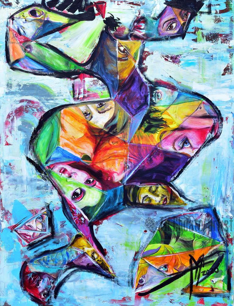 Sister, We Gotta Break the Silence Ceiling | black lives matter art | painting by Tif Choate | snaiilcandy | Snaiil Candy art | Snail Candy