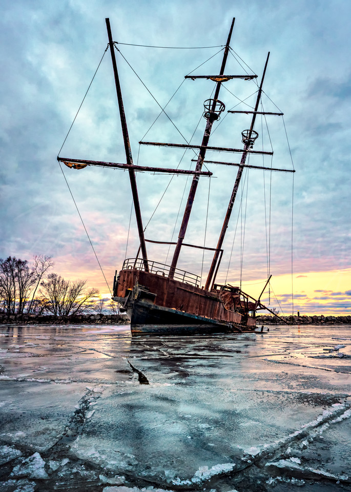 Frozen Wreck Photography Art | Trevor Pottelberg Photography