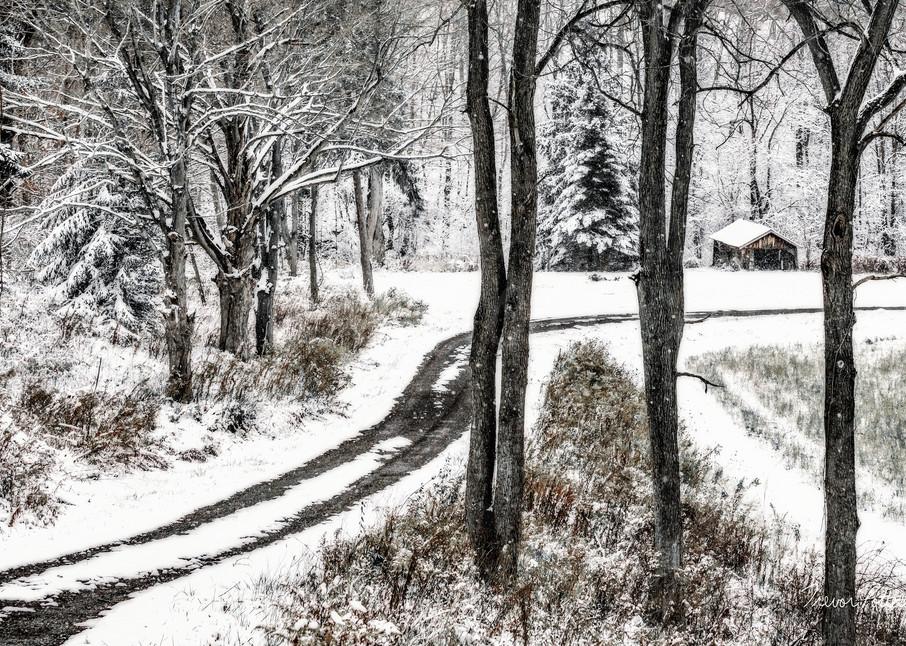 Winter Lane Photography Art | Trevor Pottelberg Photography