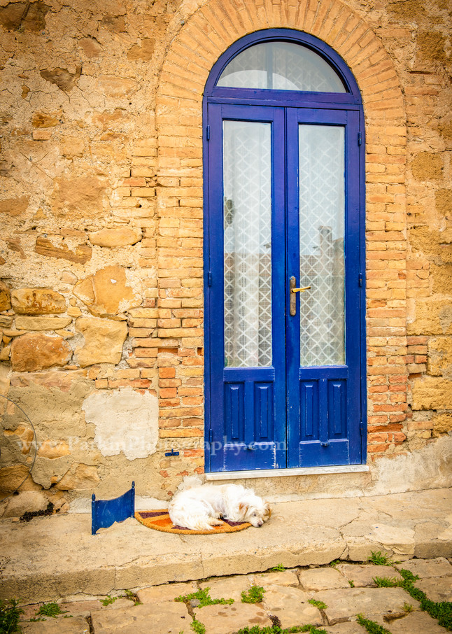 Guarding the Blue Door